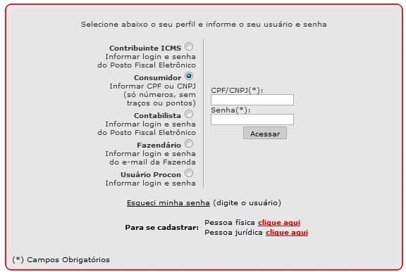 Saldo Nota Fiscal Paulista
